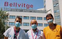 Los nefrólogos Àlex Favà, Edoardo Melilli y Nuria Montero (Foto. ConSalud)