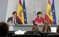 Salvador Illa, Isabel Celaa y Carolina Darias, ministros de Sanidad, Educación y Política Territorial (Foto: Pool Moncloa / José María Cuadrado)
