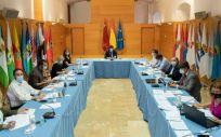 El jefe del Ejecutivo regional, Fernando López Miras, ha presidido en el Palacio de San Esteban la reunión del Comité de Seguimiento Covid 19 (Foto. Gobierno de Murcia)