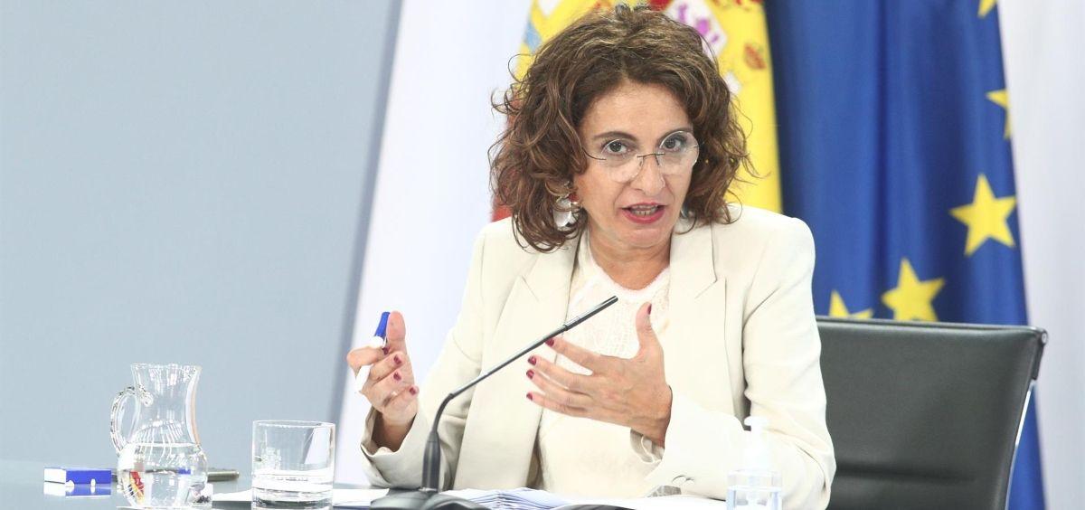 La ministra de Hacienda y portavoz del Gobierno, María Jesús Montero (Foto. Eduardo Parra, EP)