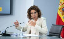 La portavoz del Gobierno y ministra de Hacienda, María Jesús Montero (Foto. Moncloa)