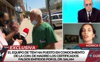 El médico negacionista siendo abordado por el programa de Cuatro. (Foto. @Todoesmentiratv)