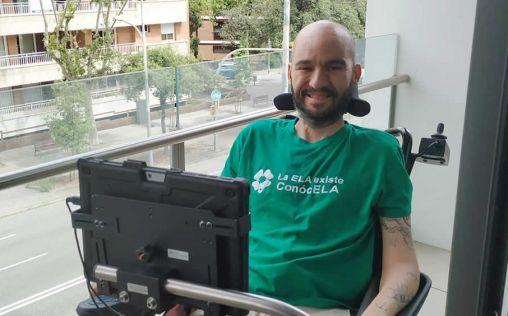 """Jordi Sabaté, paciente con ELA: """"Me inmunicé del miedo y sólo valoro las cosas positivas de la vida"""""""