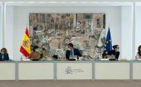 El jefe del Ejecutivo, Pedro Sánchez, preside la reunión del Consejo de Ministros en La Moncloa. (Foto. Pool Moncloa / Borja Puig de la Bellacasa)