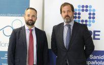 Alberto Martín San Cristóbal, director general de Alaro Avant, y Carlos Rus, presidente de ASPE (Foto. ConSalud)