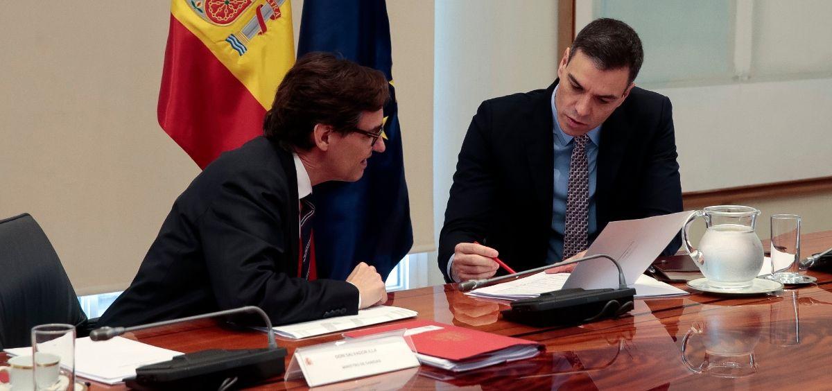 Salvador Illa y Pedro Sánchez. (Foto. Pool Moncloa   JM Cuadrado)