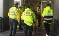 Asistencia a un hombre tras sufrir una parada cardiorespiratoria y haber sido reanimado (Foto: Samur-Protección Civil)