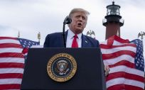 Donald Trump en un acto en Florida (Foto: Greg Lovett - Palm Beach Post - DPA - EP)