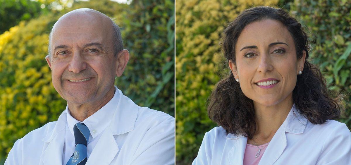 Los investigadores Miguel A. Martínez González y Estefanía Toledo.
