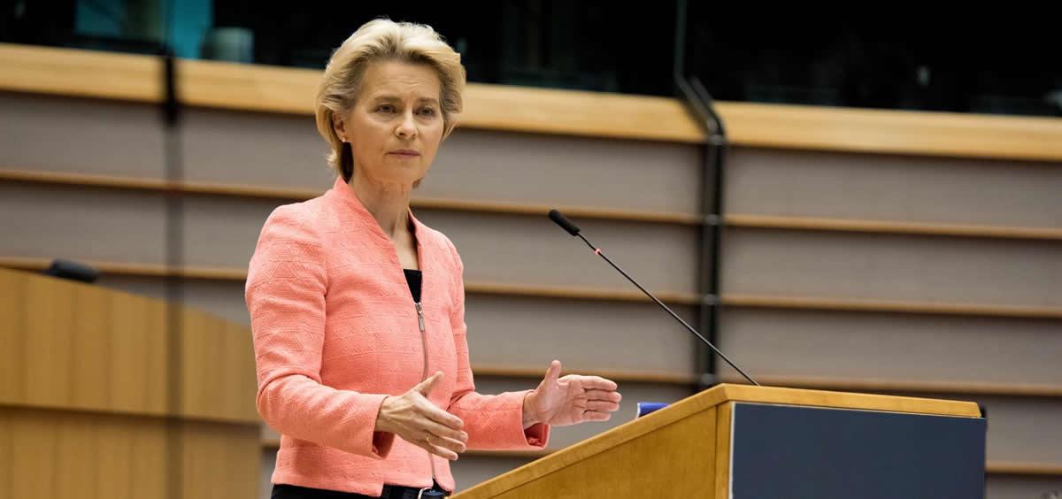 La presidenta de la Comisión Europea, Ursula von der Leyen, interviene en el Parlamento Europeo (Foto: DPA - EP)