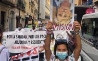 Los MIR protestan en Alicante. (Foto. Víctor Cabrera / Cedida a EP)