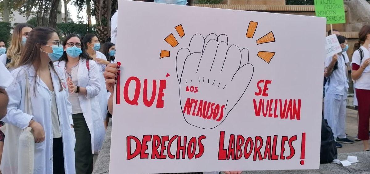 Protesta de los MIR de la Comunidad de Madrid, otra de las CC.AA donde han logrado un acuerdo. (Foto. Médicos Unidos por sus Derechos)