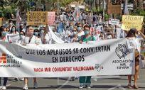 Imagen de una de las protestas de los MIR de la Comunidad Valenciana. (Foto. @HuelgaMIRCV)
