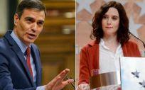 Pedro Sánchez e Isabel Díaz Ayuso se reunirán el 21 de Septiembre (Foto. Fotomontaje ConSalud.es)