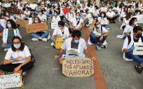 Protesta de los MIR catalanes. (Foto. Metges de Catalunya)