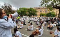 Protesta de los MIR catalanes. (Foto. Metges de Cataluña)