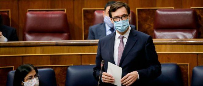 Salvador Illa, ministro de Sanidad, interviniendo en el Congreso (Foto: Congreso)