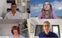 Un instante de la ponencia (Foto. Escuela de Salud Pública de Menorca)