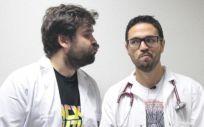 Guido Rodríguez de Lema y Juan Sánchez Verde, creadores de Yo, Doctor. (Foto. YD)
