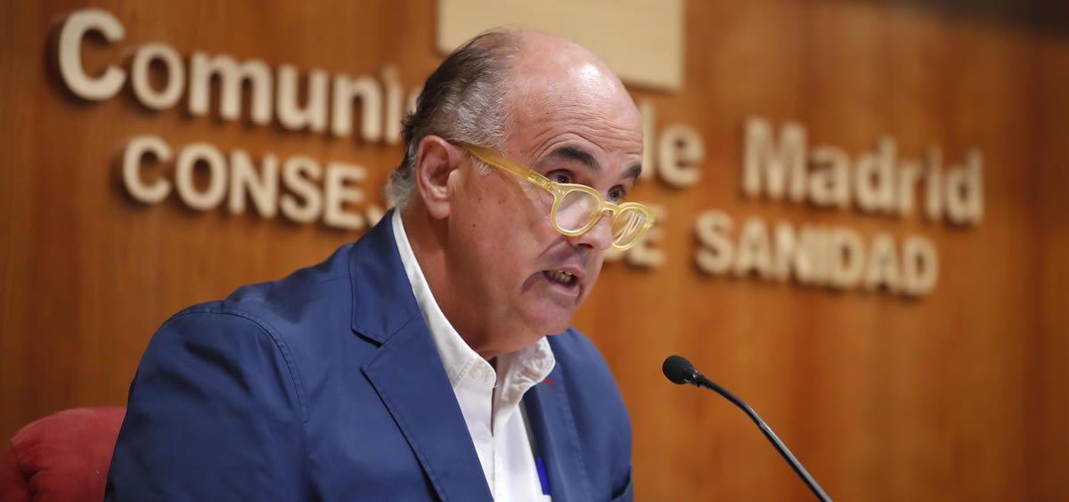 El viceconsejero de Salud Pública y Plan COVID-19, Antonio Zapatero, en rueda de prensa (Foto: Comunidad de Madrid)
