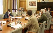 Reunión del ministro de Sanidad, Salvador Illa y el consejero de Sanidad de la Comunidad de Madrid, Enrique Ruiz Escudero (Foto. Moncloa)