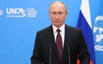 Putin en su mensaje de vídeo para la Asamblea General de Naciones Unidas (Foto. EP  Kremlin dpa)