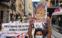 Los MIR protestan en Alicante. (Foto. Víctor Cabrera / Cedida)