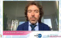 El doctor José Antonio Caminero, durante su intervención