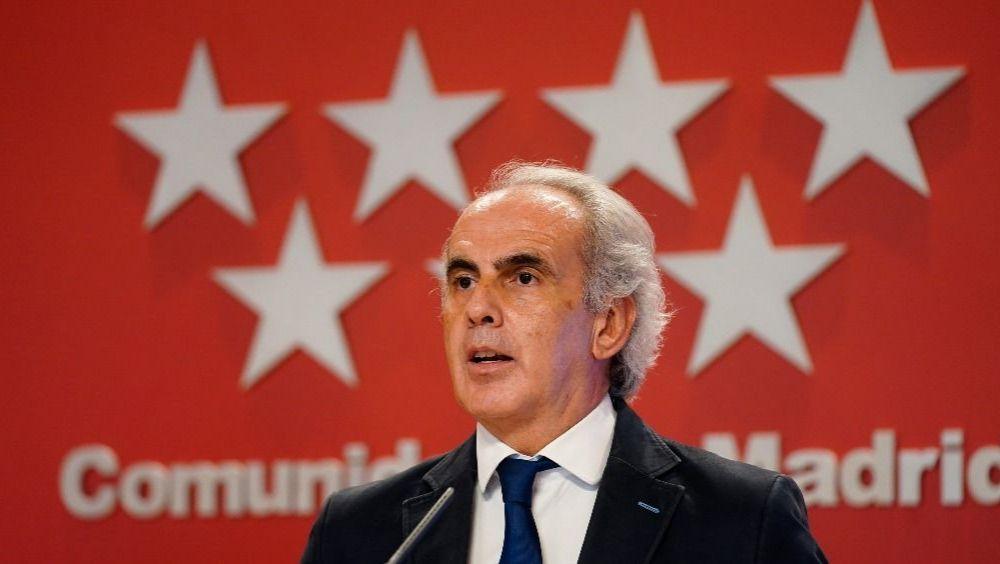 Enrique Ruiz Escudero, consejero de Sanidad de la Comunidad de Madrid (Foto: CAM)
