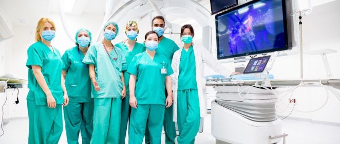 Equipo de Neuroradiología Vascular Intervencionista del Hospital de Bellvitge (Foto. Philips)