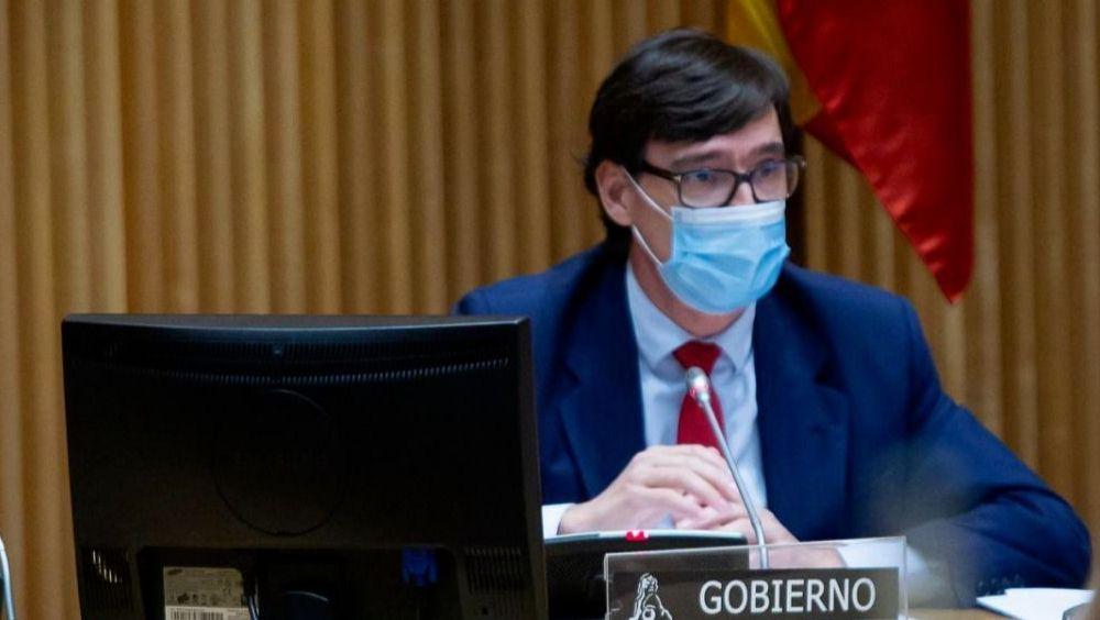 Salvador Illa, ministro de Sanidad, durante su comparecencia en la Comisión de Sanidad (Foto: Congreso)