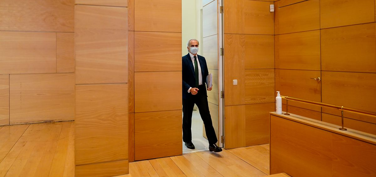 El consejero de Sanidad de la Comunidad de Madrid, Enrique Ruiz Escudero, en la Real Casa de Correos (Foto: Comunidad de Madrid)