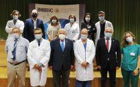 El equipo que está coordinando la investigación, junto a Jesús Aguirre (Foto. Junta de Andalucía)