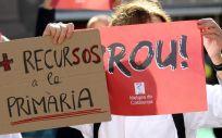 Imagen de las protestas de los médicos catalanes en Barcelona. (Foto. MC)