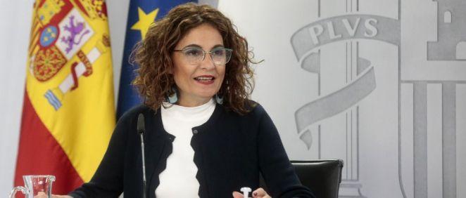 María Jesús Montero portavoz del Gobierno y ministra de Hacienda (Foto: Pool Moncloa / JM Cuadrado)