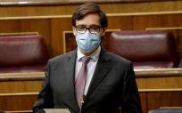 Salvador Illa, ministro de Sanidad, en el pleno del Congreso de los Diputados (Foto: Congreso)