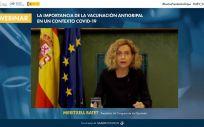 Meritxell Batet, presidenta del Congreso de los Diputados, durante su intervención en la jornada