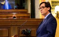 Salvador Illa, ministro de Sanidad, interviene en el Congreso de los Diputados (Foto: Congreso)