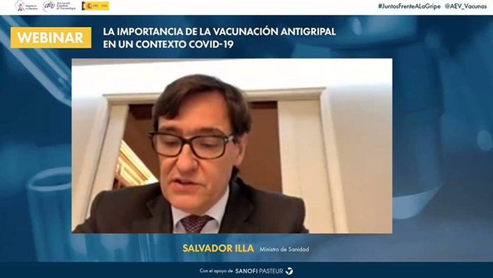 El ministro de Sanidad, Salvador Illa, durante su intervención