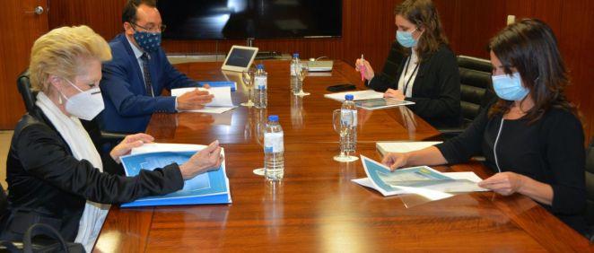 Reunión entre el Consejo General Enfermería y Sanidad (Foto. CGE)