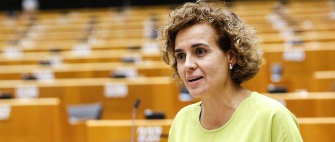 Dolors Montserrat, diputada del PP, en el pleno del Parlamento Europeo (Foto: PP Europeo)