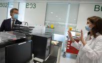 Feijóo visita las nuevas instalaciones de urgencias del Hospital do Barbanza (Foto. Xunta de Galicia)