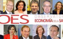 Miembros del consejo de expertos que conforman el OES
