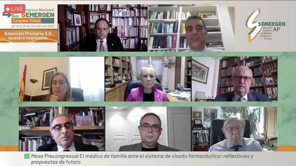 Los ponentes de la mesa precongresual (Foto. SEMERGEN)