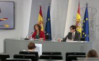 María Jesús Montero, ministra de Hacienda, y Salvador Illa, ministro de Sanidad (Foto: Pool Moncloa / JM Cuadrado)