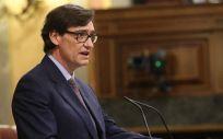Salvador Illa, ministro de Sanidad, interviniendo en el Congreso (Foto: Flickr PSOE)