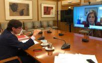 Illa y Kyriakides, durante su encuentro bilateral (Foto. Ministerio de Sanidad)