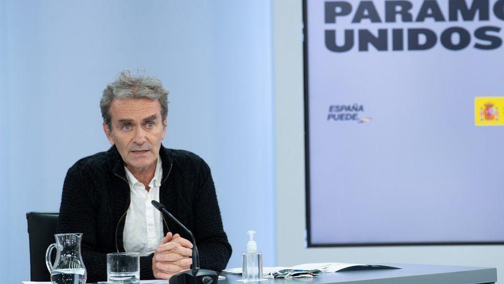 Fernando Simón, en rueda de prensa, tras el Consejo Interterritorial. (Fotos: Pool Moncloa /Borja Puig de la Bellacasa)