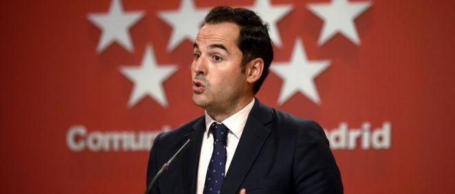El vicepresidente, consejero de Deportes, Transparencia y portavoz, Ignacio Aguado (Foto.EUROPA PRESSO.CAÑAS.POOL  )