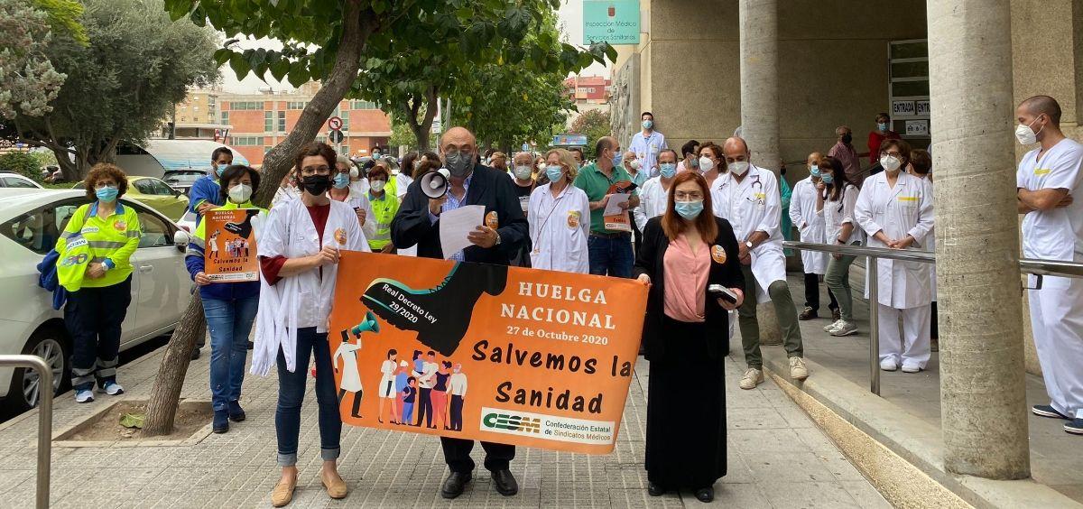 Protestas de los médicos en Murcia. (Foto. @Cesmmur)